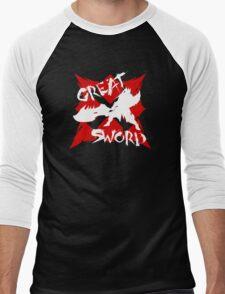MHG Great Sword (CROSS SERIES) // White Men's Baseball ¾ T-Shirt