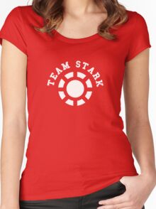 Team Stark - old reactor Women's Fitted Scoop T-Shirt