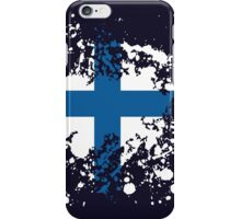 Finland Flag Ink Splatter iPhone Case/Skin