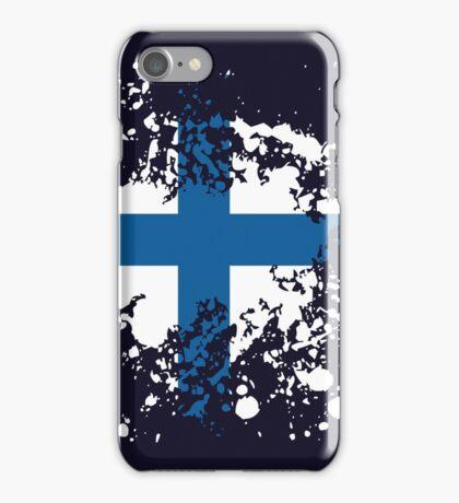 Finland Flag Ink Splatter iPhone Case/Skin