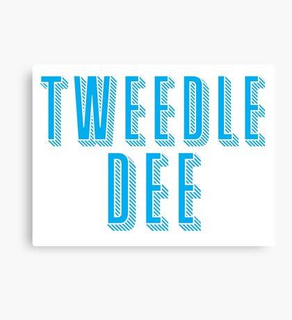 Tweedle DEE (with matching Tweedle DUMB) Canvas Print