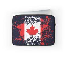 Canada Flag Ink Splatter Laptop Sleeve