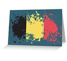 Belgium Flag Ink Splatter Greeting Card
