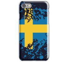 Sweden Flag Ink Splatter iPhone Case/Skin