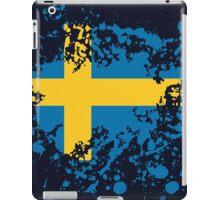 Sweden Flag Ink Splatter iPad Case/Skin
