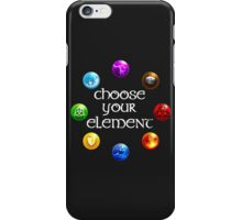 Magicka, choose your element (circle) iPhone Case/Skin
