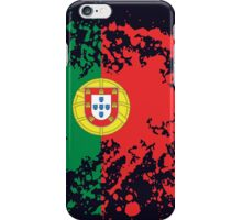 Portugal Flag Ink Splatter iPhone Case/Skin