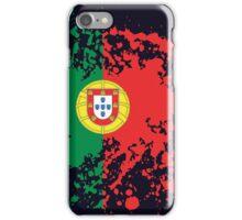 Portugal Flag Ink Splatter iPhone Case/Skin
