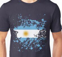 Argentina Flag Ink Splatter Unisex T-Shirt