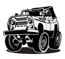 Cartoon jeep Photographic Print
