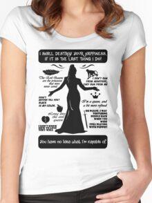 Evil Queen Quotes. Regina Mills. OUAT. Women's Fitted Scoop T-Shirt
