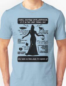 Evil Queen Quotes. Regina Mills. OUAT. T-Shirt