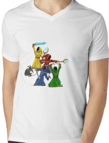 Magicka, team of wizards with small enemy Mens V-Neck T-Shirt