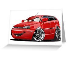 Cartoon Car Greeting Card