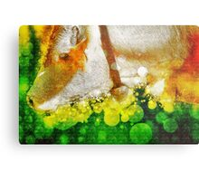 Digitally manipulated Cow with Bell. Metal Print