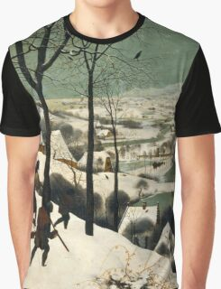 The Hunters in the Snow (1565) Pieter Bruegel the Elder Graphic T-Shirt