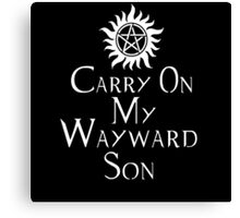 Carry On My Wayward Son (White) Canvas Print