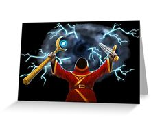 Magicka, Wizard with storm spell Greeting Card