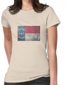 Warped North Carolina Womens Fitted T-Shirt