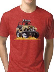 Cartoon Jeep Tri-blend T-Shirt