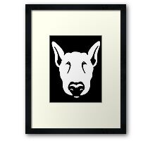 Bull Terrier Head Graphic  Framed Print