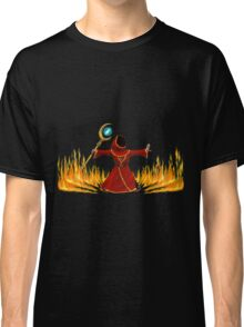 Magicka, Wizard with fire spell Classic T-Shirt