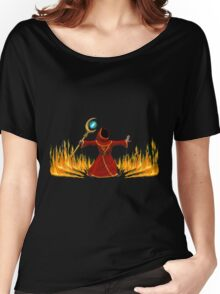 Magicka, Wizard with fire spell Women's Relaxed Fit T-Shirt