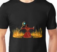 Magicka, Wizard with fire spell Unisex T-Shirt