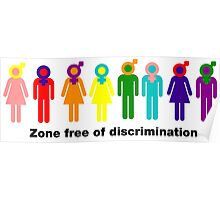 Zone free of discrimination Poster