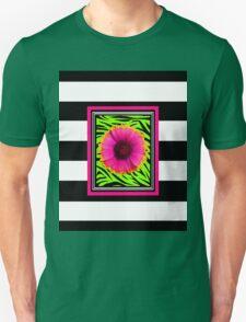 Pink & Green Wild Child Flower Unisex T-Shirt