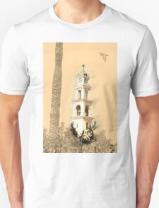 Jaffa, the belfry of the St Peter church and Monastery Unisex T-Shirt