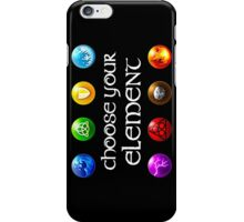 Magicka, choose your element (4x2) iPhone Case/Skin