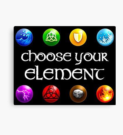 Magicka, choose your element (4x2) Canvas Print