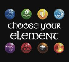 Magicka, choose your element (4x2) Kids Tee