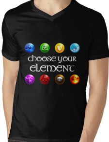 Magicka, choose your element (4x2) Mens V-Neck T-Shirt