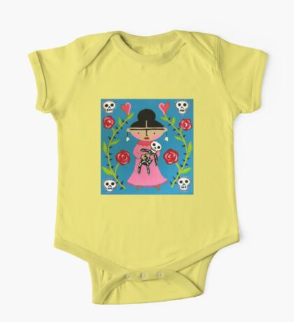 Little Frida and Skelly One Piece - Short Sleeve