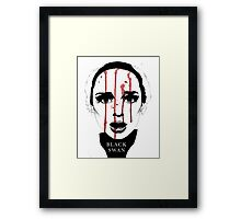 Black Swan Illustration Framed Print