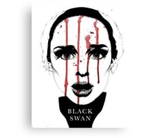 Black Swan Illustration Canvas Print