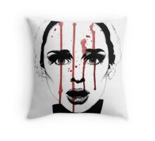 Black Swan Illustration Throw Pillow