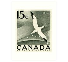 Canada postage stamp, 1954, gannett Art Print