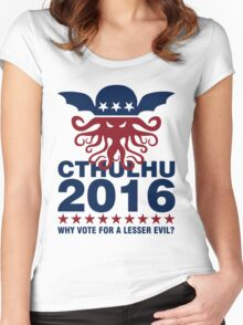 Cthulhu For 2016 Women's Fitted Scoop T-Shirt