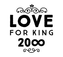 Love For King 20∞ | Black Ink Photographic Print