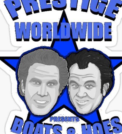 Prestige worldwide presents boats & hoes Sticker
