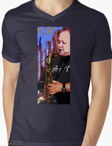 Great Ray on the Horn Mens V-Neck T-Shirt