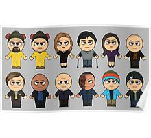 BREAKING BAD - MAIN CHARACTERS CHIBI - AMC BREAKING BAD - MANGA BAD Poster
