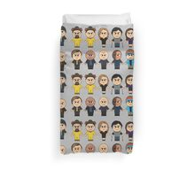 BREAKING BAD - MAIN CHARACTERS CHIBI - AMC BREAKING BAD - MANGA BAD Duvet Cover