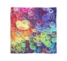 Rainbow Paper Roses Scarf