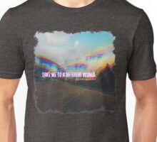 A DIFFERENT WORLD__ GLITCHED ART Unisex T-Shirt