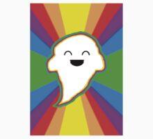 Happy Rainbow Ghost Kids Tee