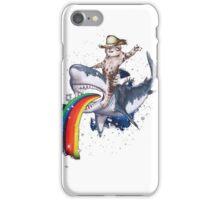 Bucking Sharkaroo Puking Rainbow iPhone Case/Skin